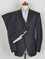 Canali 1934 Anzug Suit Gr 52 Made in Italy Grau Grey Streifen Stripes Wolle Wool