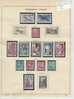 France 1953-54 Used Stamps On 2 Pages Ref: R6485