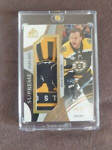 2019-20 UD SP game used David Pastrnak supreme patch bear 14/15