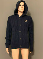 Hollister Men's Little Harbor Hooded Cardigan Sweater Navy XL