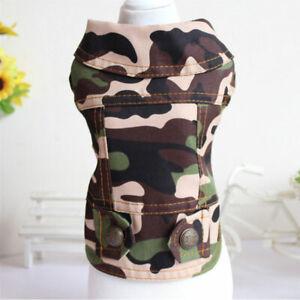 Camouflage Pet Dog Vest Denim Jacket Clothes Fashion Puppy Cat Jean Coat Costume