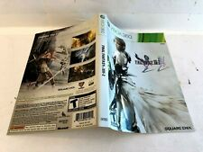 Final Fantasy XIII-2 Xbox 360 ARTWORK ONLY Authentic