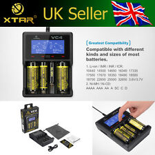 XTAR VC4 QUAD BAY 3.7V Li-ion/IMR 18650 NiMH AA Battery Charger CAPACITY TESTER