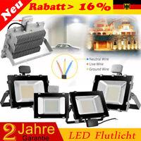 30/50/100W LED Fluter mit Bewegungsmelder Flutlicht Scheinwerfer Außen Strahler