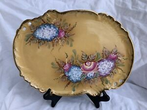 Vintage Vanity Tray With Flowers
