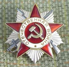100% SILVER. RUSSIAN SOVIET MILITARY PATRIOTIC WAR WWII MEDAL ORDER AWARD BADGE
