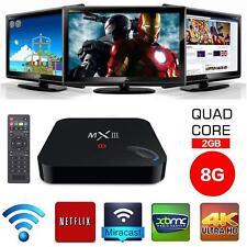 MX3 WiFi Quad Core Android 4.4 TV Box Fully Loaded 2GB/8GB 4K Amlogic S802