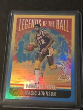 20-21 NBA Hoops Legends Of The Ball Magic Johnson Holo HOF #3 Top Loaded Sharp