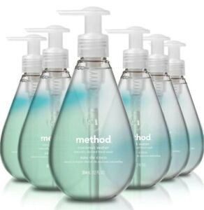 Method Gel Hand Wash, Coconut Water, 12 Fl Oz Pack of 6