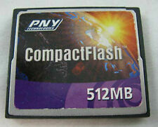 PNY CF 512MB Compact Flash Memory Card Used