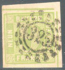 "Bavaria, Bayern, Sc#13, VF Used, Corner Margin, ""325"", **UNcommon**, Germany"
