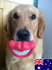Fat Cat Dog Toy - Funny Red Lip - Extra Tough Rubber - Aus Stock