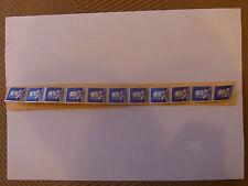 Bande de 11  PALISSY Bleus ROULETTE FICTIFS avec N° Rouge au dos RARE