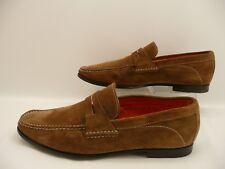 Santoni Men's Brown Suede Loafers Shoes Sz 10 D