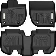 Oedro Floor Mats Liners Tpe fit for 2016-2020 Honda Hr-V Hrv All-Weather Black