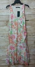 New laurel ralph lauren dress 12 flower lined sleeveless v neck knee length