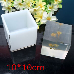 """10cm/4"""" Super Large Cube Square Silicone Mold Resin Casting Making Jewelry Tools"""