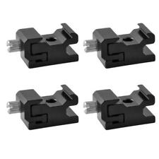 Black Metal Cold Shoe Flash Stand Adapter with 1/4-inch -20 Tripod Screw (4 Pack