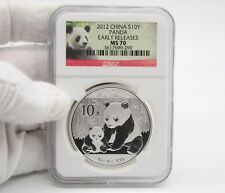 2012 China Panda 1 Oz Silver Coin NGC MS70 Early Release Red Panda Label. #290