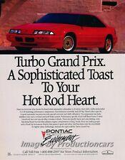 1990 Pontiac Turbo Grand Prix -  Original Advertisement Car Print Ad J504