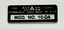 Astatic 10-Da Microphone Label For Restoration.