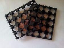 4pcs 4x5 Cell 18650 Batteries Spacer Radiating Shell Plastic Heat Holder Bracket