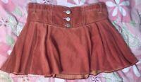 "Vintage Boho AX ARMANI EXCHANGE Orange Size 10 Mini Skirt 14"" Length 34"" Waist"