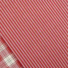 Alpine rouge et lin mini rayure tissu/nordic stocking christmas