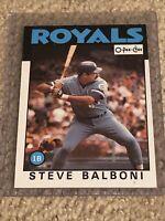 RARE Canadian 1986 O-Pee-Chee Baseball Card #164 Steve Balboni in GREAT COND!!