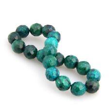 G7M4 Chrysocolla Beads Balls Elastic Stretch Bracelet Chain T8K1