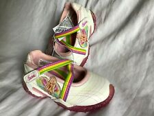 MATTEL BARBIE Girl's White Mary Janes - Magic of the Rainbow Toddler Sz 5 *NWT*
