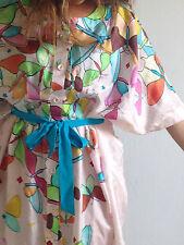 Abito in seta rosafarfalle multicolor Magazzini del sale Tg.XS-Ottime condizioni