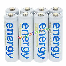 8x AA 2A 3300mAh 1.2V Ni-Mh énergie Batterie rechargeable cellulaire pour RC MP3