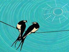 Birds Blue Art