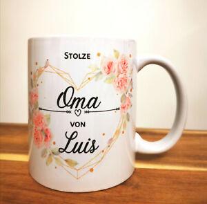 """Personalisierte Tasse """"stolze Oma"""" individueller Becher, Geschenkartikel"""