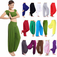 Women Wide Leg Harem Long Yoga Loose Gym Pants Aladin Gypsy Dance Baggy Trousers