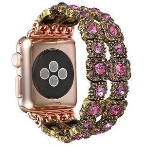 Apple Watch Band 38mm Handmade Vintage Faux Crystal Stone Rhinestone Beaded