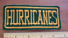 NCAA University of  Miami Hurricanes Embroidered Logo Patch