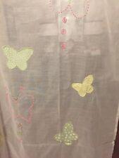 2 Pottery Barn Kids Green/Pink Butterfly Sheer Panels 44 X 96