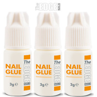 The Edge Nails Adhesive Glue 3x 3g Super Strong For False Nail Tips & Extensions