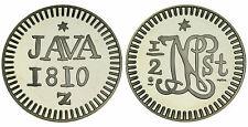 Zilveren Proof replica -  1/2 stuiver Napoleon 1810-1811 .925 zilver, 31,1 gram