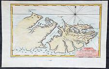 1760 Nicolas Bellin Antique Map of The Falkland Islands, South America