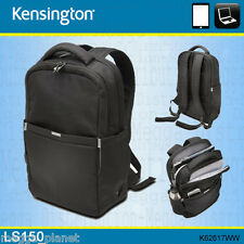 "Kensington LS150 15.6"" Laptop +Tablet Business Backpack/Rucksack Carry Bag BLACK"