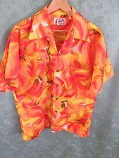 Late 60's Likeke Polyester Aloha Shirt Size XL Horizontal Button Holes