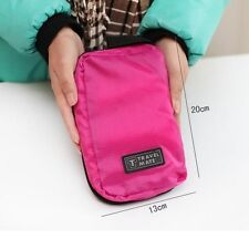 Small Zippered Hanging Travel Camping Gym Makeup Cosmetic Toiletry Wash Kit Bag
