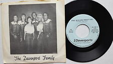 """THE DAVENPORTS - Free Wild and Twenty-One PRIVATE '83 TEXAS COUNTRY 7"""""""