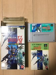 NINTENDO SFC SOFT「 Mobile Suit Gundam F91」 in japan With box and manual!!
