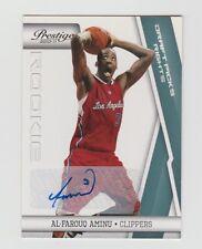 Al-Farouq Aminu Clippers 2010-2011 Prestige Draft Picks Rights Auto #158 77/199