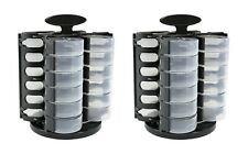 Spinning Table Top Bead Storage - Black Stow and Go Quads-SET OF TWO- Item 1743