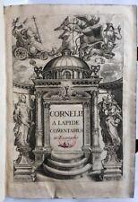 1717 Lapide Commentarius Evangelia Gospel Commentary Matthew Mark Luke John